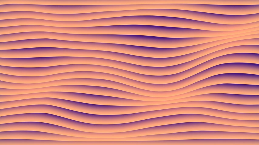 em branco : Colorful wave gradient loop animation. Future geometric lines patterns motion background. 3d rendering. 4k UHD