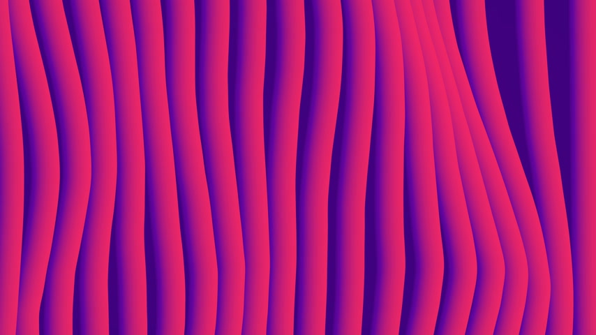 katalog : Colorful wave gradient loop animation. Future geometric vertical lines patterns motion background. 3d rendering. 4k UHD