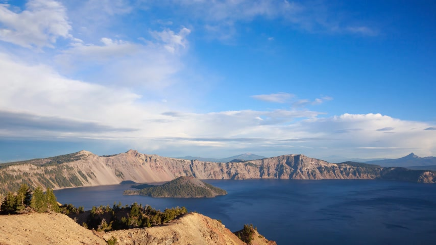 krater : Sunrise at the Crater lake, timelapse, Oregon