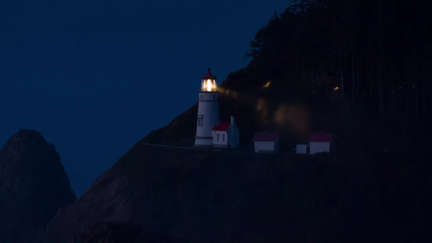 világítótorony : Heceta Lighthouse on Route 1 at the Oregon coast