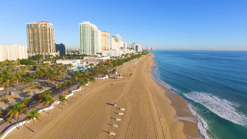 Alba a Fort Lauderdale Beach Video aerea