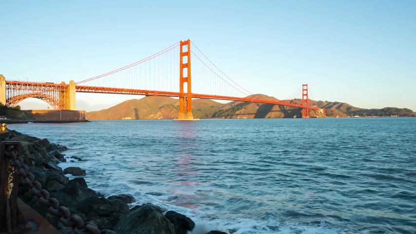 Golden bridge at sunrise, San Francisco
