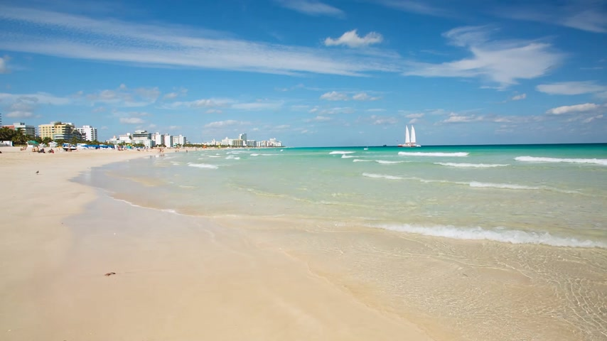 Miami South Beach daytime view, Florida, USA. Raw video source Filmati Stock