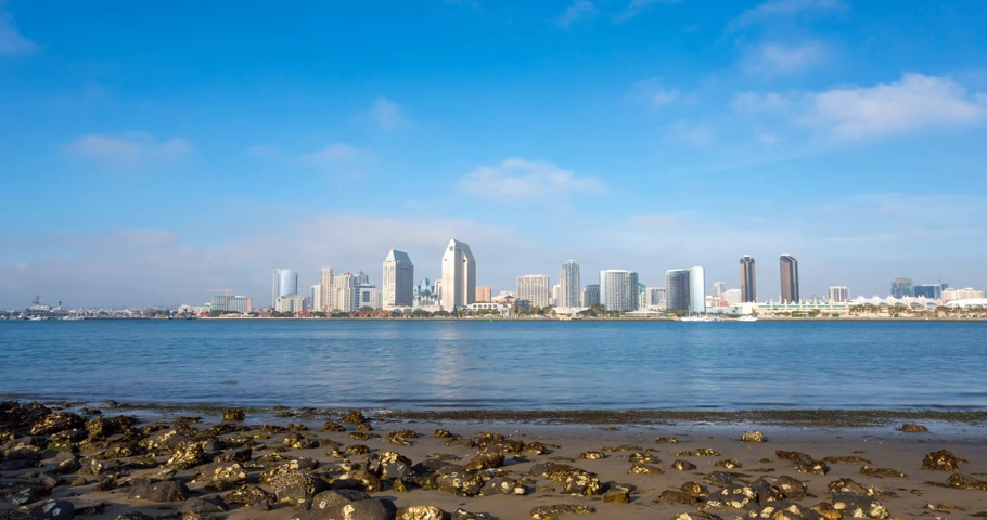 San Diego downtown timelapse, California