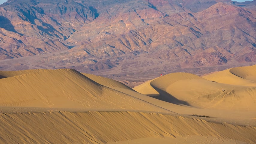 dead valley : Mesquite dunes in Death Valley, California, USA