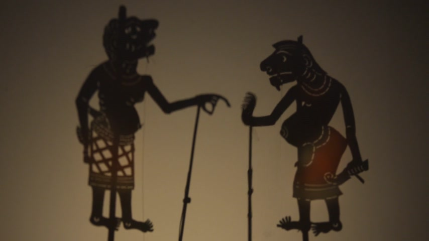 marionetka : Traditional south of Thailand Shadow Puppet Show