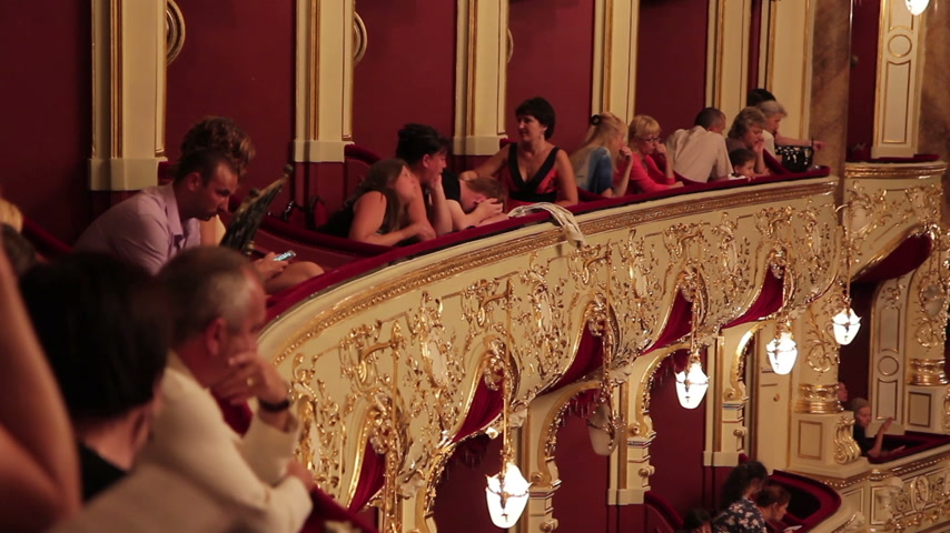 stage theater : People in Theatre Stock Footage