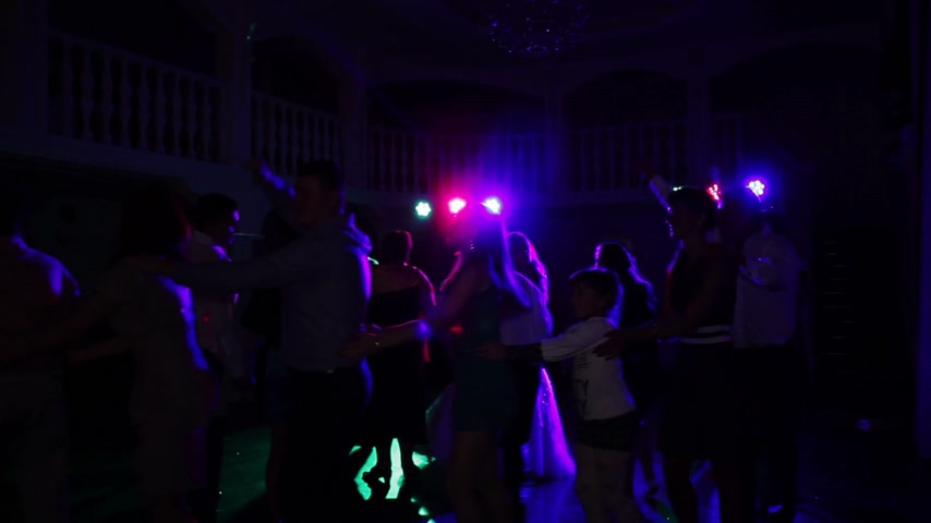weddings : Dancing People on Wedding Stock Footage