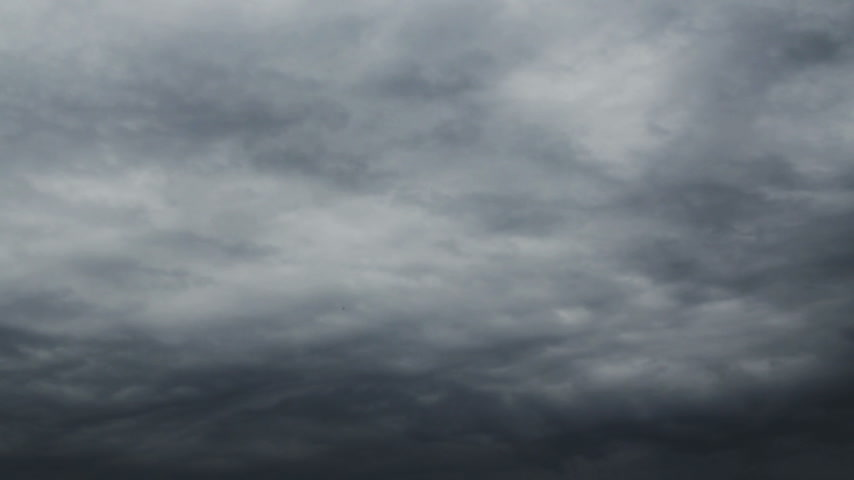 puffy clouds : Grey Sky Timelaps Stock Footage