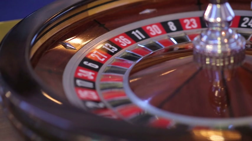 tablo : Casino Roulette Wheel Stok Video