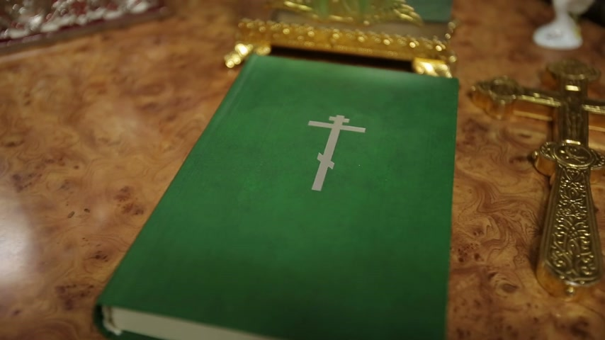 verse : Orthodox Bible Stock Footage