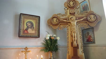communion : Jesus Christ on a Cross in Orthodox Church
