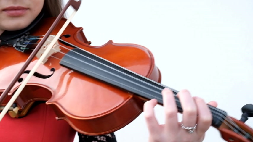 instrumentos : Beautiful girl playing violin