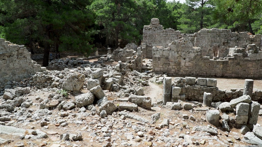 phaselis : Ruins of public baths in ancient Phaselis city. Antalya province, Turkey.