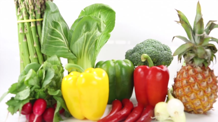chalota : Vegetables varieties over white background