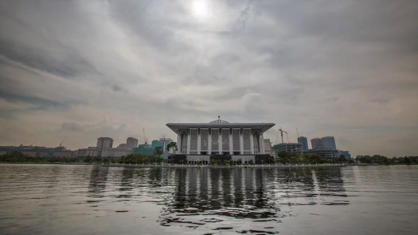 ferro : Iron Mosque and lake timelapse in Putrajaya, Malaysia Vídeos