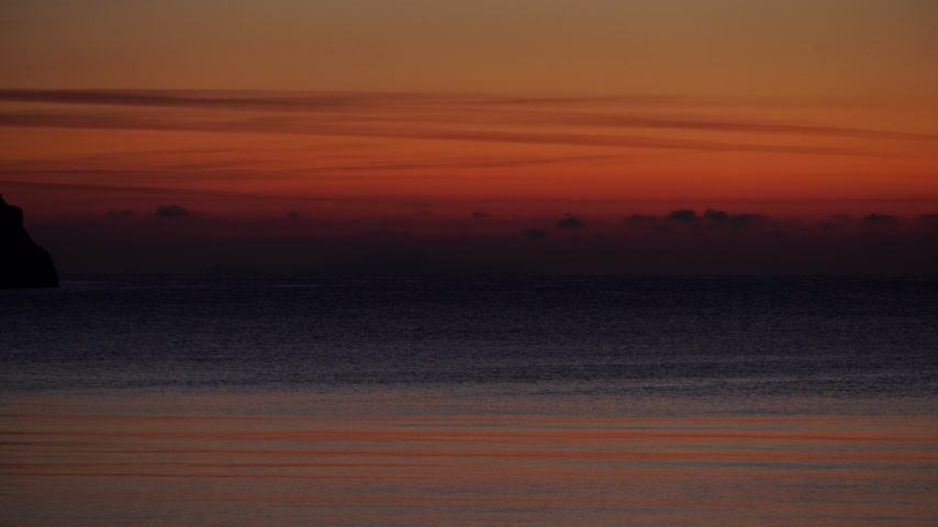 peloponnese : Sunrise or sunset over sea surface