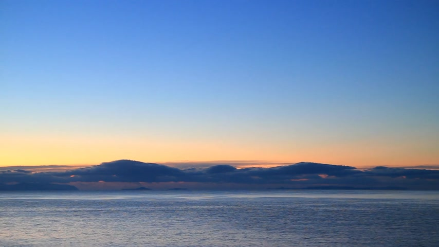 peloponnese : Sunrise over sea surface