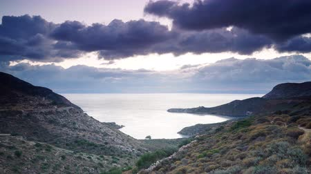 peloponnese : Greek coastline on Peloponnese Mani, time lapse Stock Footage