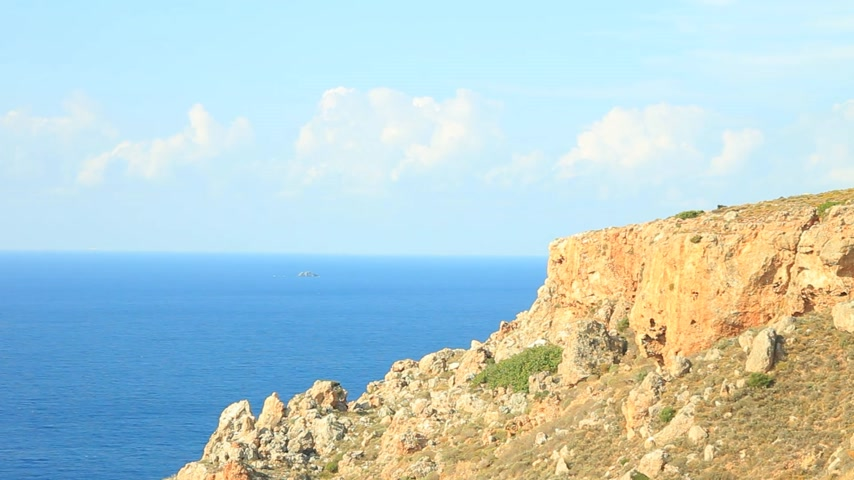 laconia : Greek coastline on Peloponnese, Mani Peninsula time lapse Stock Footage