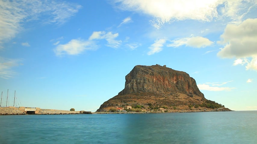 laconia : View of Monemvasia island in Greece