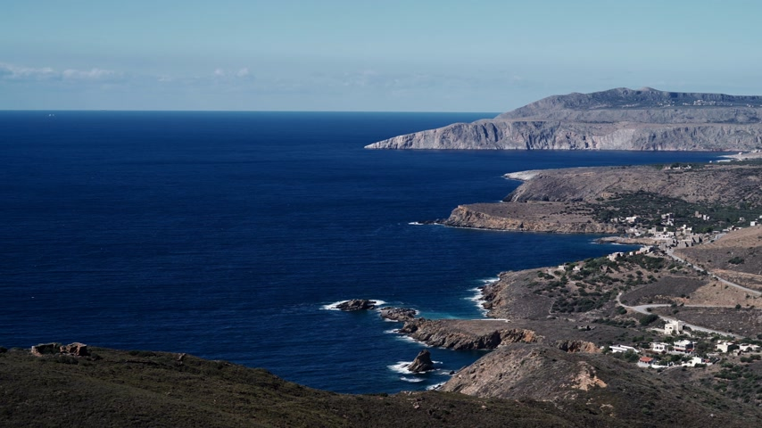 laconia : Greek coastline on Peloponnese, Mani Peninsula