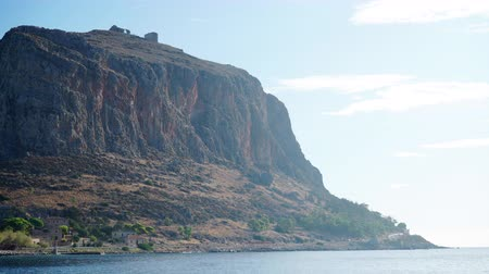 plateau : View of Monemvasia island in Greece