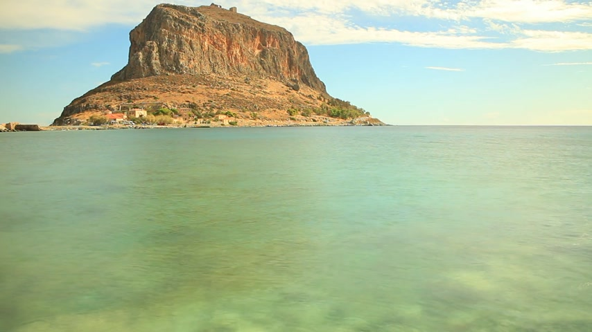 rochoso : View of Monemvasia island in Greece