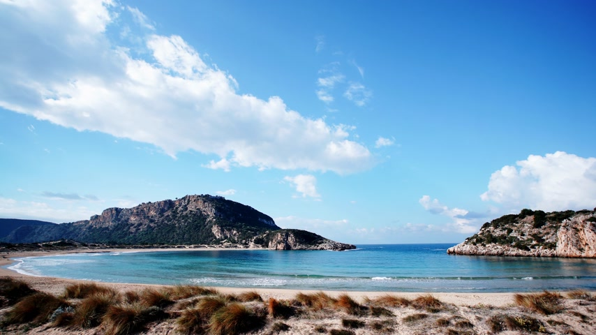 time laps : Greek Voidokilia beach, timelapse
