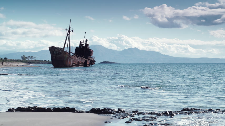 vrak : The famous shipwreck near Gythio Greece
