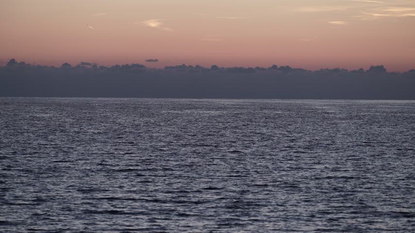 peloponnese : Sky after sunset over sea surface Stock Footage