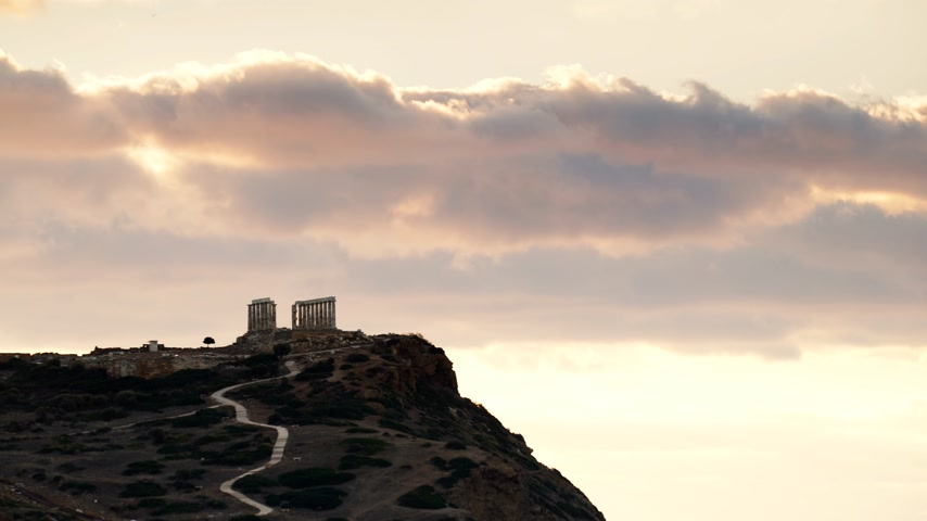 Эгейский : Greek temple of Poseidon, Cape Sounio