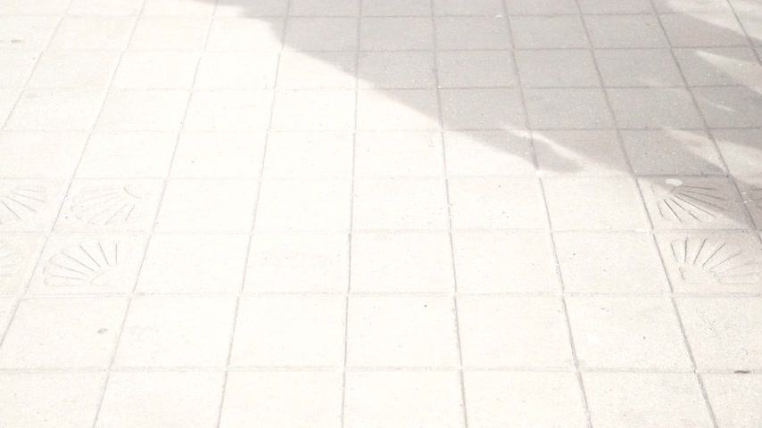 tiled floor : Couple walking in a street of the city, closeup of male and female legs on the sidewalk