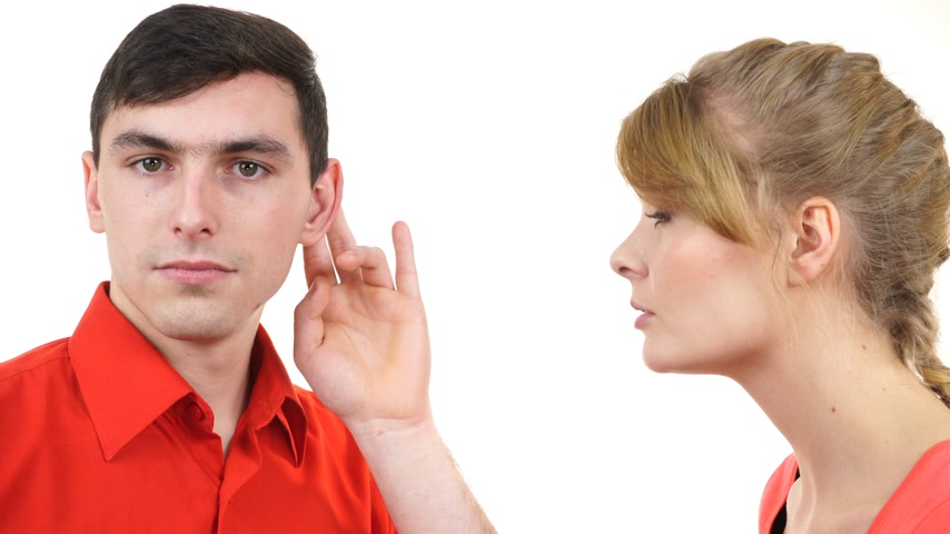 Couple having argument, conflict bad relationships. Angry emotional woman talking screaming while man standing listening 4K ProRes HQ codec Stock Footage