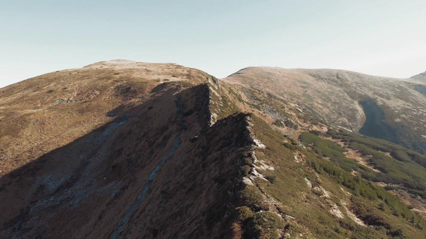 fascination : Drone flying above mountains Stock Footage