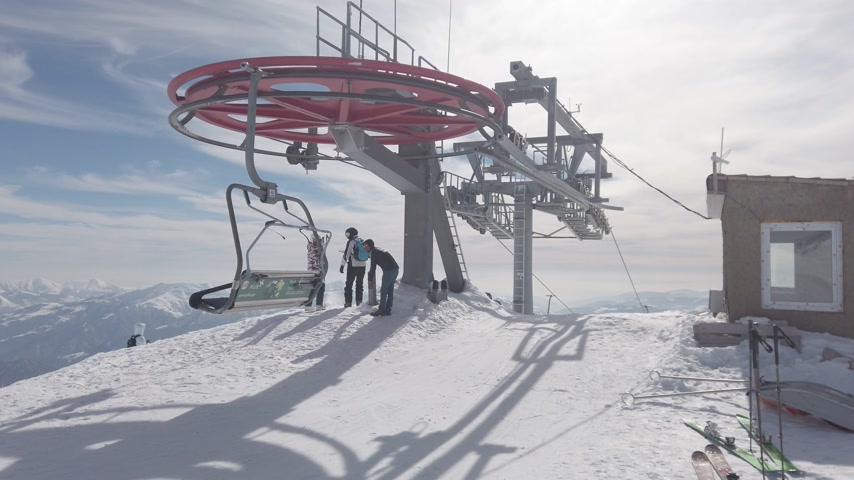chair lift : Ski lift, Gudauri, Georgia, 4k