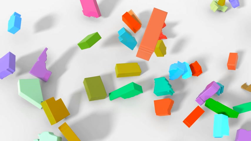 united states : Animation 3D map USA explosion at union were Stock Footage