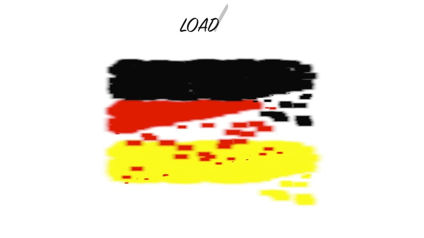 queda : Flag Germany with movement loading Vídeos