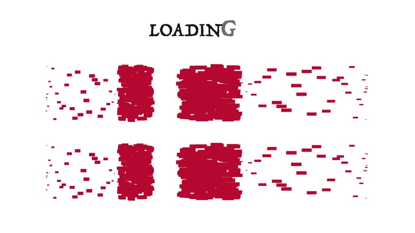 queda : Flag Denmark with moving loading