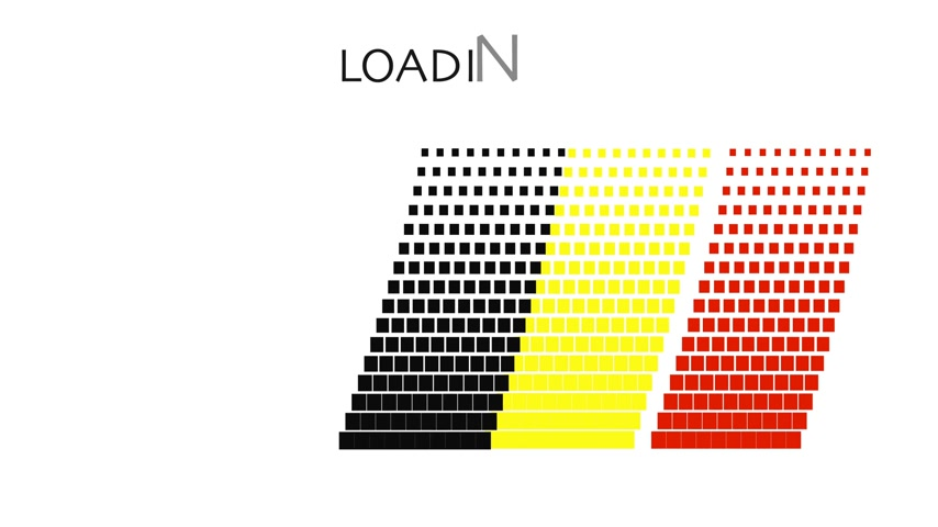 queda : Belgium flag with moving loading Vídeos