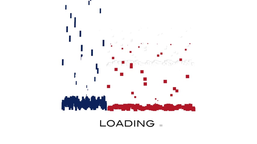 queda : Texas Flag animation with moving loading