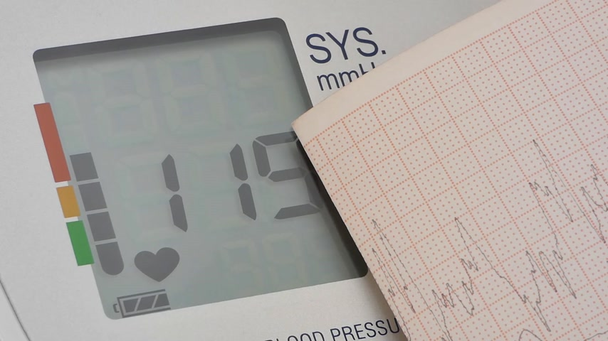 hypertension : graphical, close-up Stock Footage