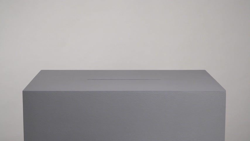 democrático : Gray ballot box. Presidential and parliamentary elections. The voter throws the ballot into the ballot box. Stock Footage