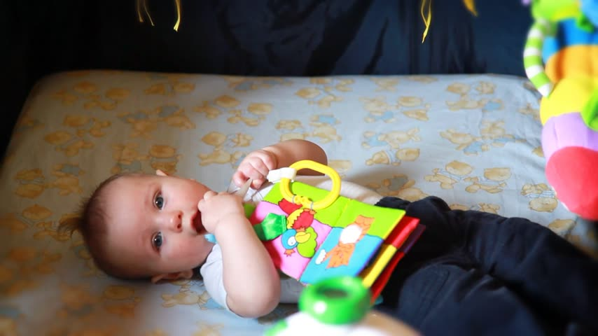 adorable : Adorable baby boy playing