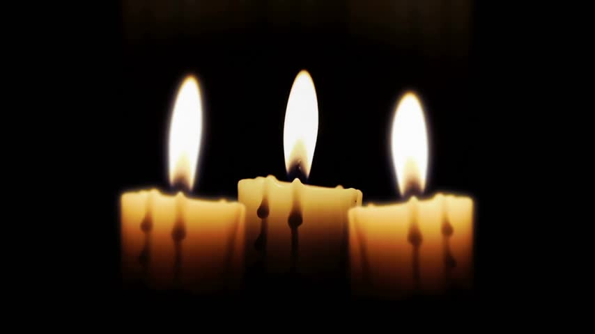 ortodox : Candles in the night, close up, loop