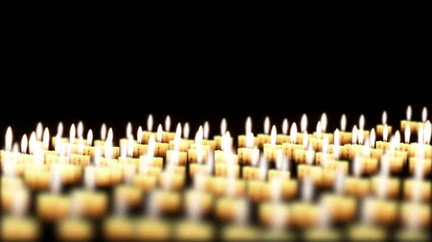 religioso : Candles in the night, Holiday Background, seamless Loop