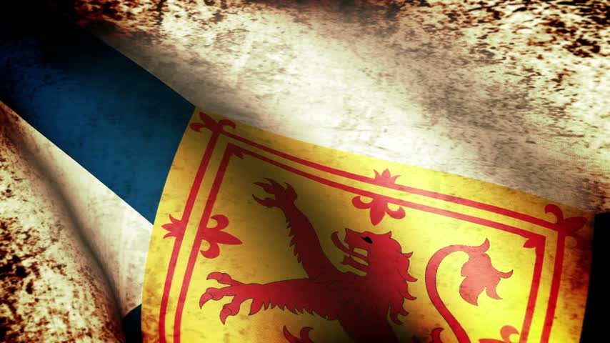 kanada : Nova Scotia Flag Waving, grunge look Stok Video