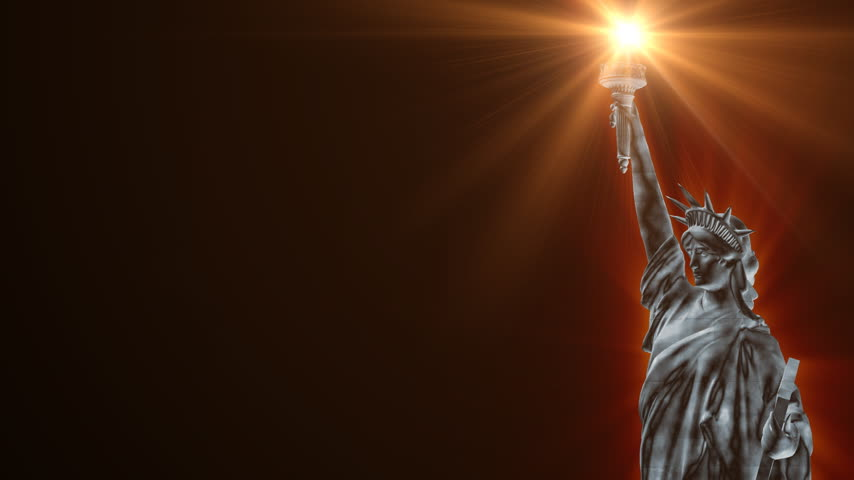 heykel : Statue of Liberty and colorful fireworks