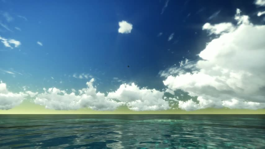 horizonte sobre a água : Time Lapse Clouds over Tropical Ocean Stock Footage