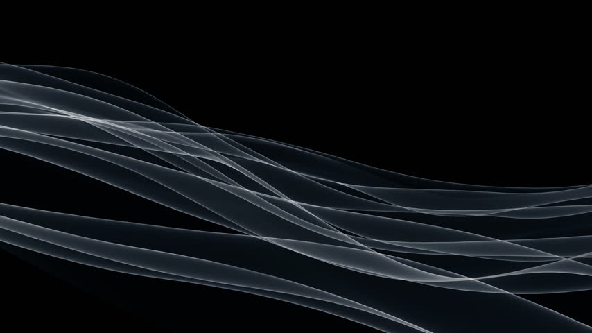 flowing lines : Wispy lines against black, loop Stock Footage